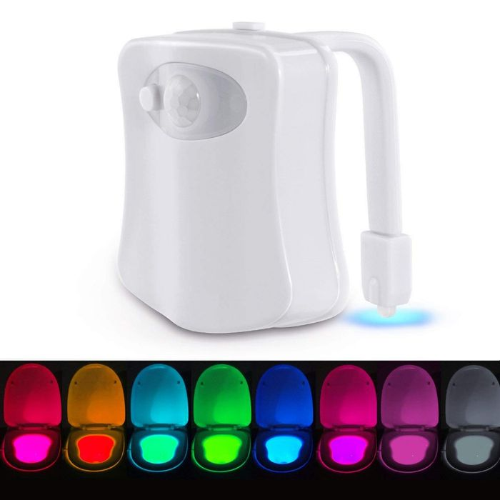 Toilet Night Light - 8 Changing Colours! Free Delivery.