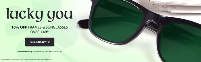 10% off Frames and Sunglasses over £49*