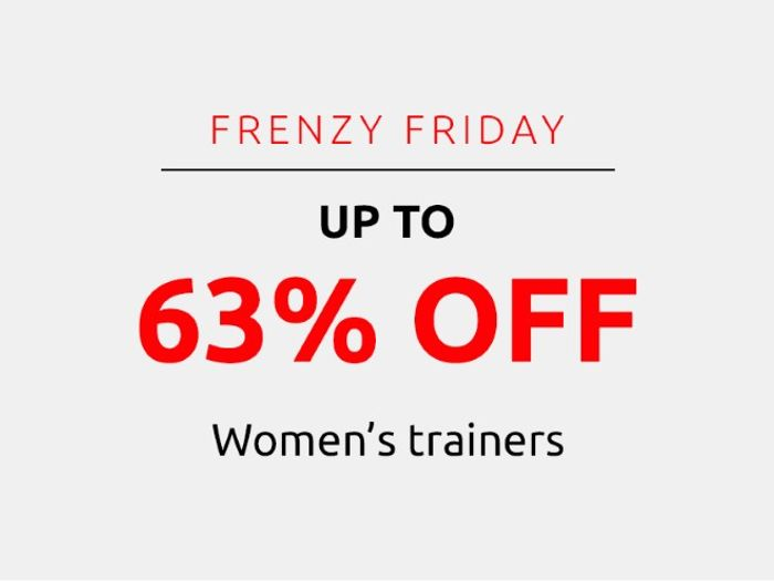 Save up to 63% on Women's Trainers | Frenzy Friday