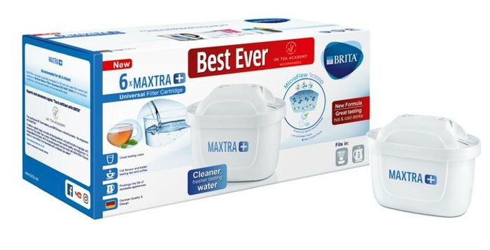 BRITA Maxtra+ Water Filter Cartridges, White, Pack of 6