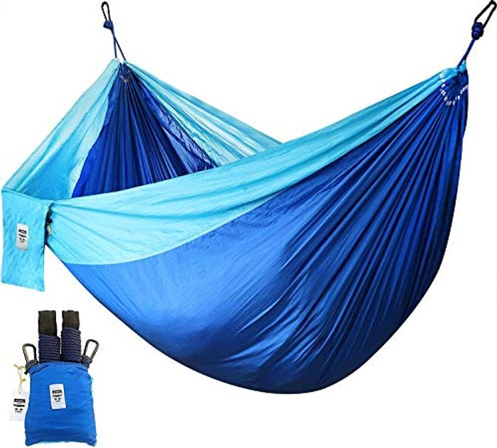 Utopia Home Supreme Nylon Hammock - Blue - Supports up to Two People or 400 LBS