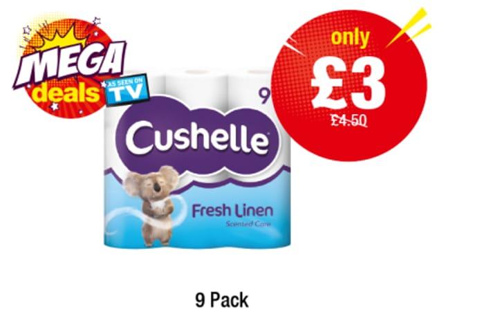Cushelle Fresh Linen - 9 Pack