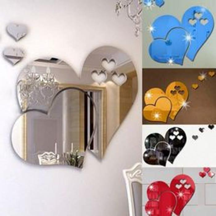 Love Heart Wall Mirror Sticker