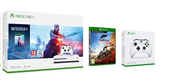 Xbox One S 1TB Battlefield v Console + Forza Horizon 4 +Xbox Wireless Controller
