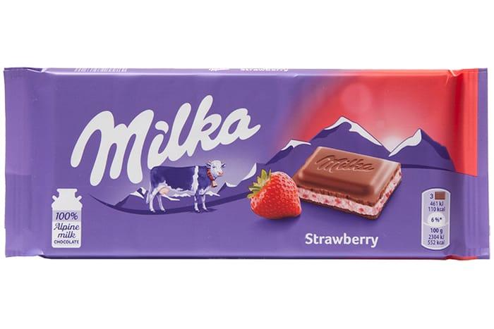 Milka Strawberry Yoghurt Chocolate Bar 079 At Home