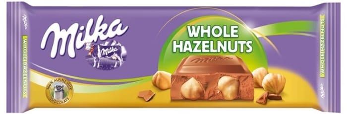 Milka Whole Nuts Chocolate Bar 199 At Home Bargains
