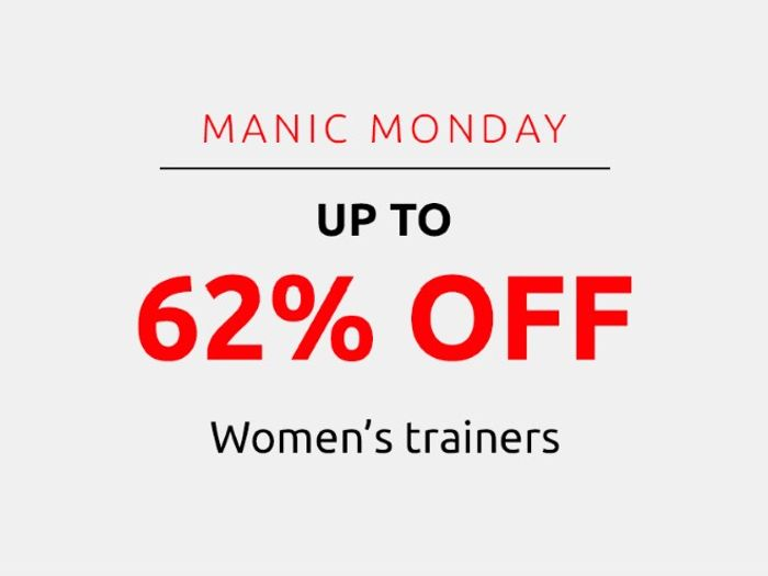 Save up to 62% on Women's Trainers | Manic Monday
