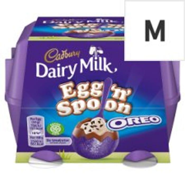 Cadbury Egg 'N' Spoon Oreo / Double Chocolate 4Pk Half Price
