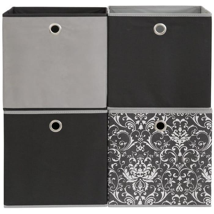 Argos Home Set of 4 Non Woven Boxes - Damaskby