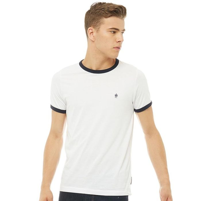 French Connection Mens FCUK Ringer T-Shirt White