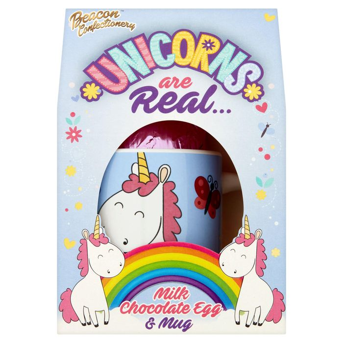 Beacon Confectionery Unicorns Are Real Milk Chocolate Egg & Mug 45g