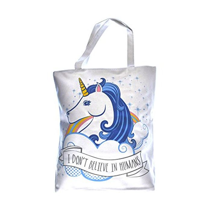 Handy Cotton Zip Up Shopping Bag - Unicorn Only £3.5 Delivered