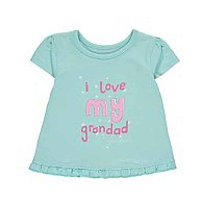 Adorable I Love My Grandad T Shirt Free Click and Collect