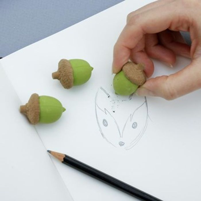 3 X Acorn Erasers Only £2.99