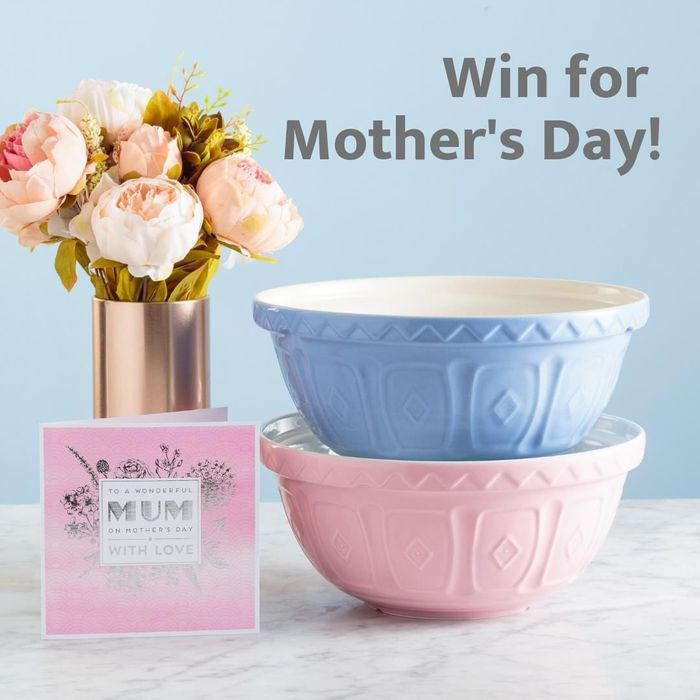 Win a Mason Cash Mixing Bowl in Blue or Pink!