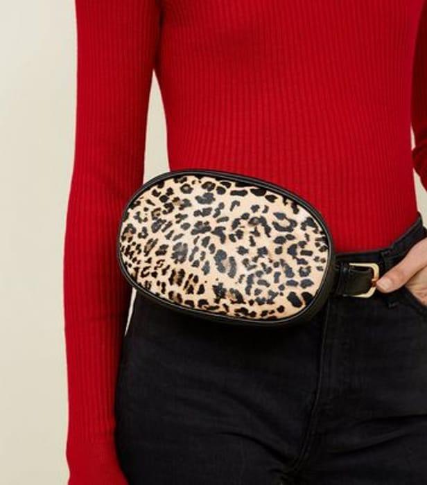 Brown Leopard Print Bum Bag