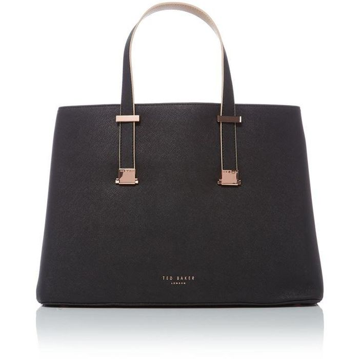 ebb7c5ac4 TED BAKER April Crosshatch Black Tote Bag
