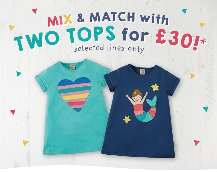 Mix and Match Tops! Buy 2 Selected Tops for £30