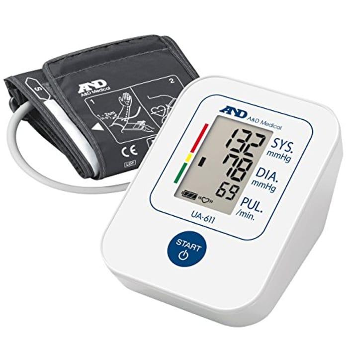 A&D Medical UA-611 Upper Arm Blood Pressure Monitor - 64% Off