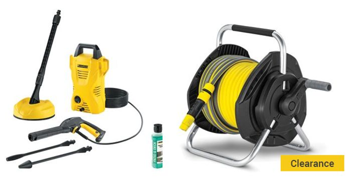 Extreem Karcher K2 Pressure Washer Home Kit & 25m Hose Pipe Reel, £102 at TM94