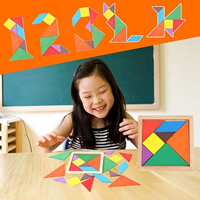 Wooden Tangram Set, Early Education Toy