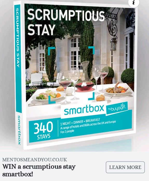 Win a Scrumptious Stay Smartbox