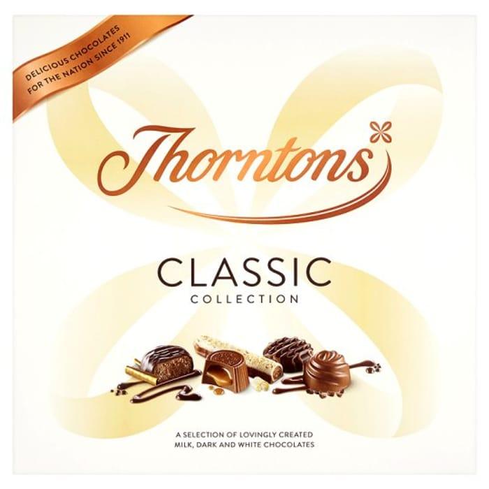 Thorntons Classic Mix Box 462g Half Price 5 At Tesco