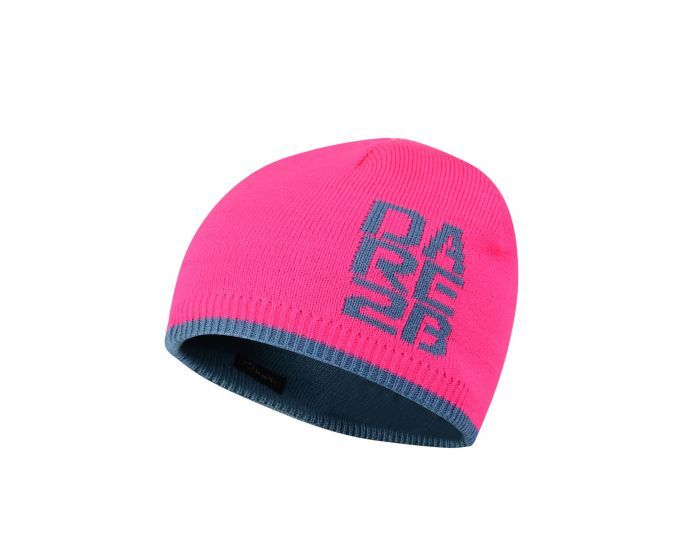 Kids Thick Cuff Reversible Beanie Hat Cyber Pink