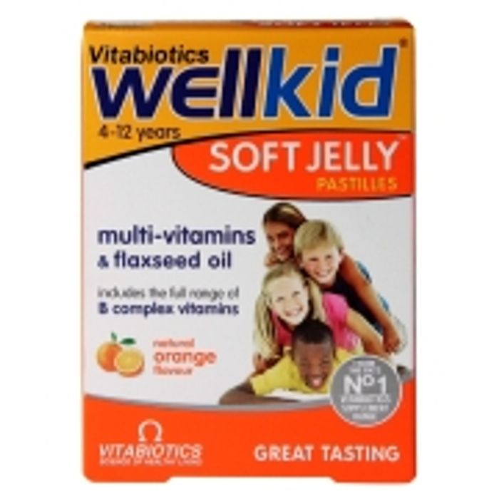 Vitabiotics Wellkid Soft Jelly Pastilles Orange 30 Chews