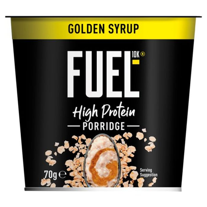Fuel 10K Golden Syrup or Chocolate Porridge Pot 70G - HALF PRICE