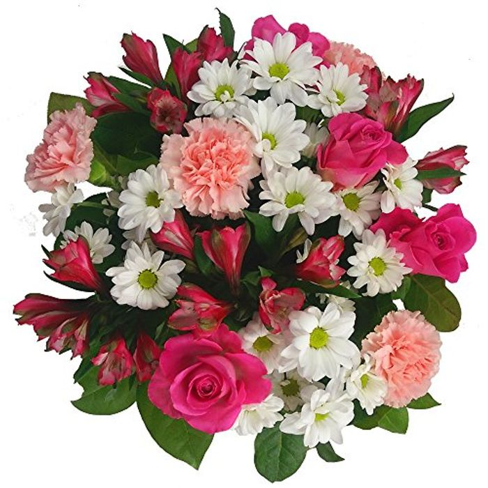 Clare Florist Precious Pink and White Mother's Day Bouquet - Save £9