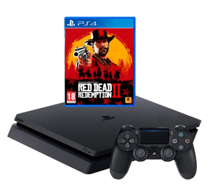 PlayStation 4 500GB with Red Dead Redemption 2 - Black Only £229