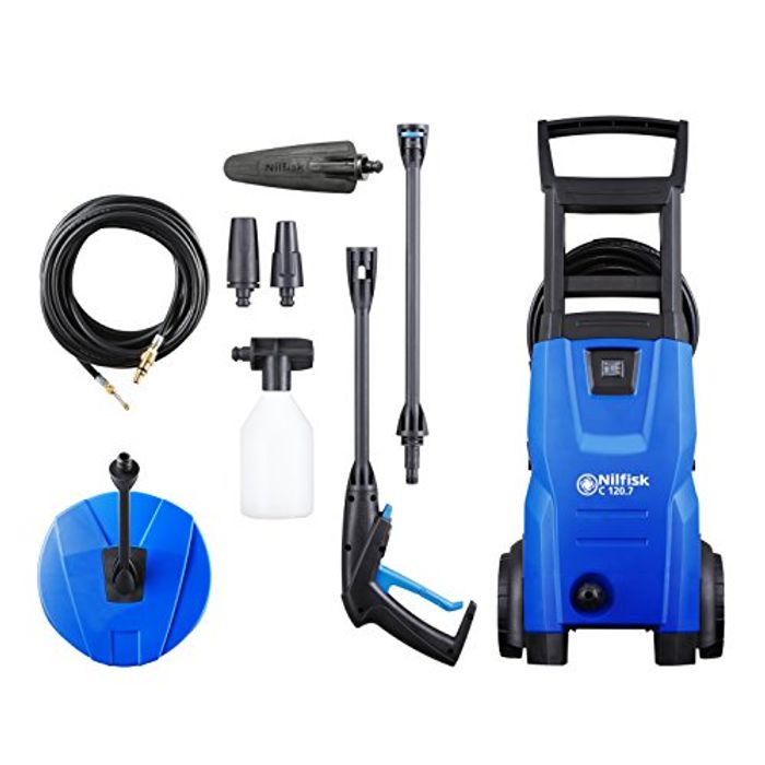 Nilfisk C 120 Bar Pressure Washer (Includes Patio & Car Cleaning Kit