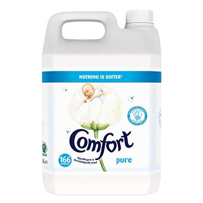 Comfort Pure Fabric Conditioner, 5 Litre, 166 Wash Sale