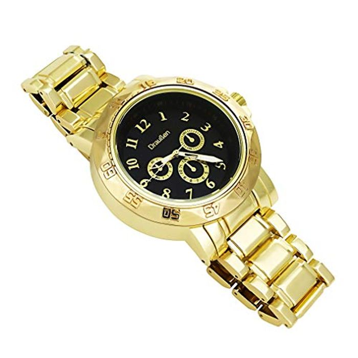 9ct Gold Filled Watch Presidential Convex Bezel Rim Tachymeter Chronograph
