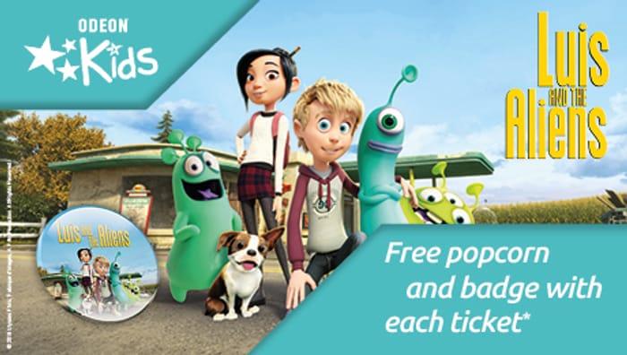 """Odeon Kids """"Luis & the Aliens"""" - Free Popcorn & Exclusive Badge"""