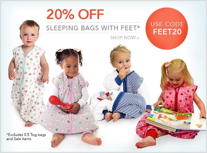Sleeping Bags with Feet 20% OFF!