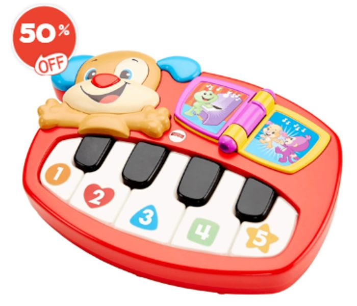 Fisher-Price Laugh and Learn Puppy's Piano Half Price