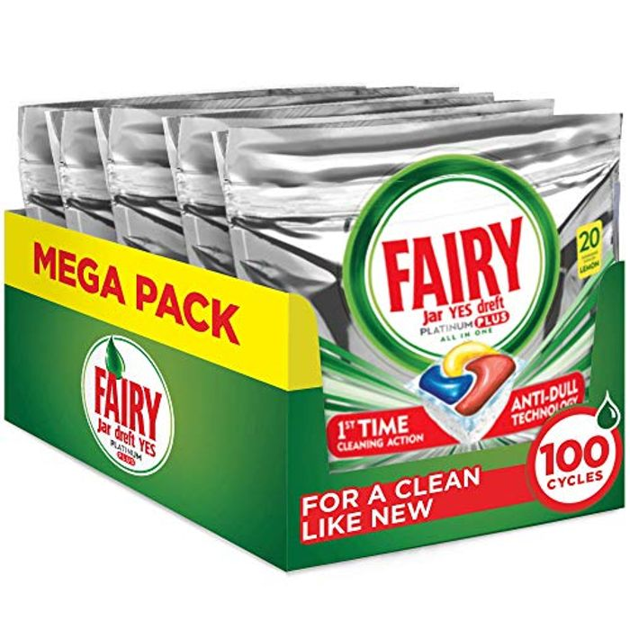 Fairy Platinum plus Dishwasher Tablets Bulk, Lemon, 100 Tablets - 21% Off