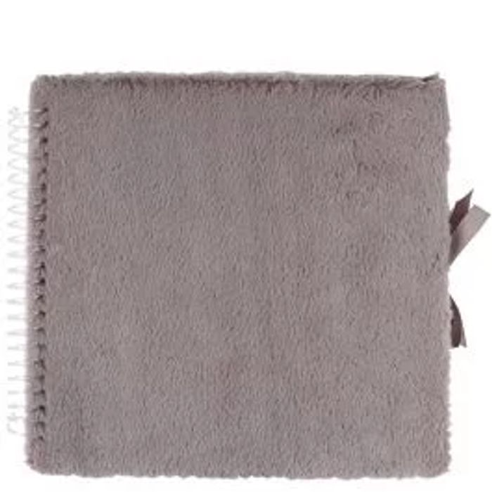 Grey Fluffy Large Scrapbook - Half Price