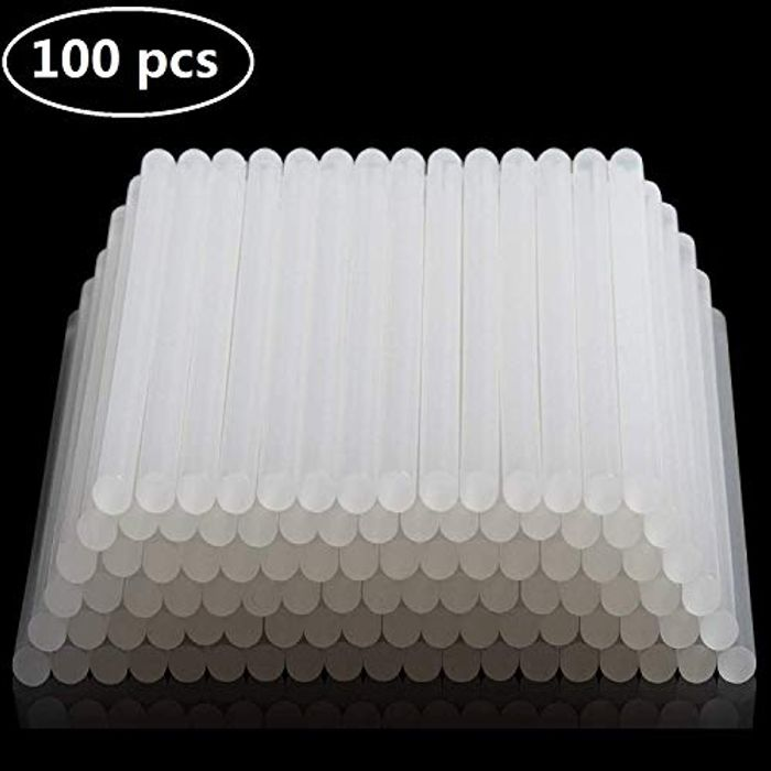 100 AllRight 100 X 7mm Clear Hot Melt Glue Sticks  FREE delivery