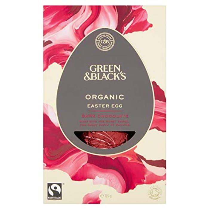 Green & Black's Organic Dark Chocolate Egg, 165 G (Pack of 4)