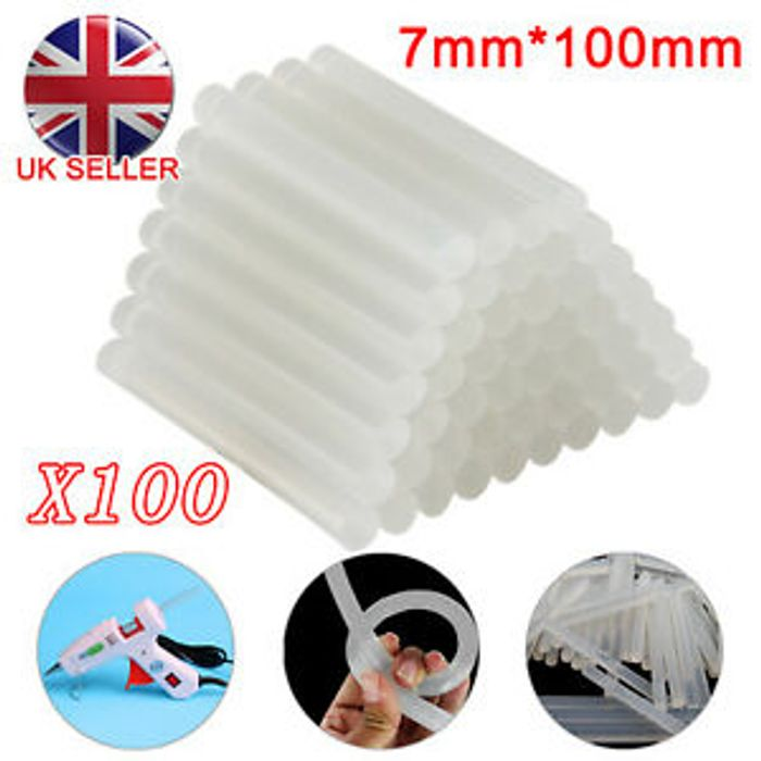 Unbranded Glue Sticks 100 Pieces 100mm X 7mm Free Delivery