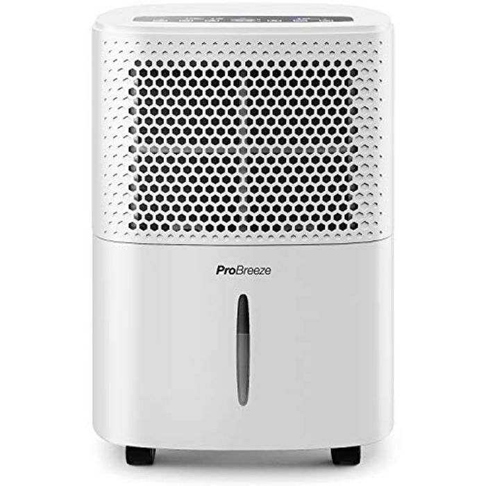 Pro Breeze 12L/Day Dehumidifier with Digital Humidity Display - Save £54