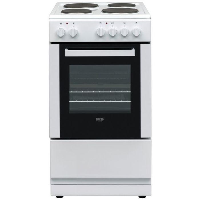 Bush DHBES50W Single Electric Cooker - White Clearance Item