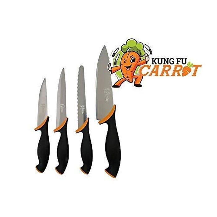 Kung Fu Carrot Kitchen Knife SetLightning Deal £7.21 (Save 52%)