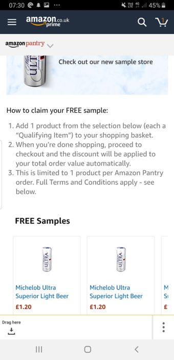 Free Beer with your Amazon Pantry Order
