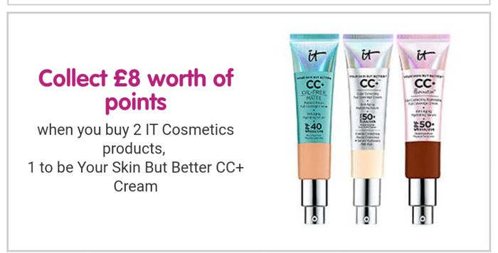 Collect £8 worth of Points When You Buy Two IT Cosmetics