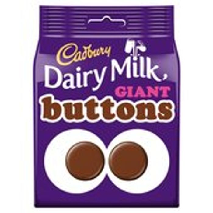 Cadbury Dairy Milk Giant Buttons Chocolate Bag 119g - Save £0.50