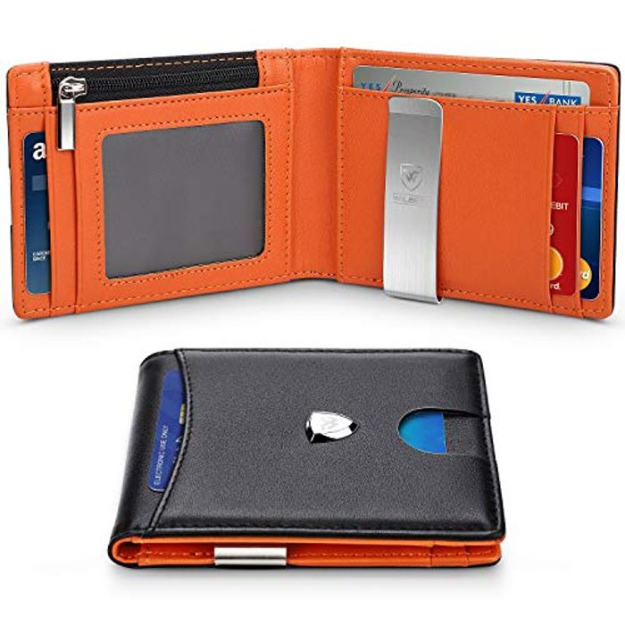 Wallets Mens RFID Blocking with Money Clip - 28% Off